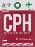 CPH Copenhagen Luggage Tag 2 Plastic Sign by  NaxArt