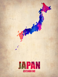 Japan Watercolor Map Plastic Sign by  NaxArt
