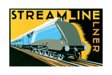 Streamline Train Plakater af Brian James