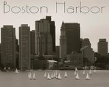 Boston Harbor Giclee Print by  Graffi*tee Studios