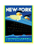Streamliner NY Posters by Brian James