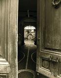 Italian Courtyard Giclee Print by  Graffi*tee Studios