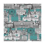 London Toile Blue Affiches par Sharon Turner