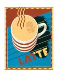 Latte Posters av Brian James