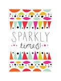 Sparkly Times Lámina por Susan Claire