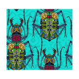 Flower Beetle Turquoise Prints by Sharon Turner