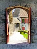 Gruyeres Castle View Giclee Print by  Graffi*tee Studios