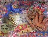 Peanuts and Crackerjack Baseball Vintage Giclee Print by  Graffi*tee Studios