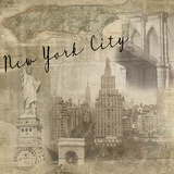New York City Vintage Giclee Print by  Graffi*tee Studios