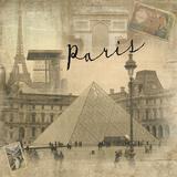 Paris Vintage Giclee Print by  Graffi*tee Studios