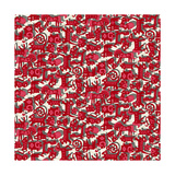 Chinese Animals Red Prints by Sharon Turner