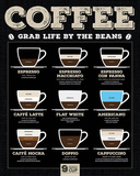Coffee (Grab Life By The Beans) Posters