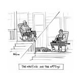 The @Hatfields and the @McCoys - Cartoon Premium Giclee Print by Kaamran Hafeez