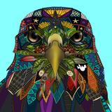 American Eagle Blue Poster par Sharon Turner