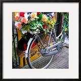 Dutch Flower-Power Bike Framed Photographic Print by Magda Indigo