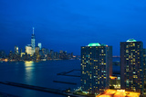 New York City Manhattan Skyline with One World Trade Center Tower (Aka Freedom Tower) over Hudson R Photographic Print by  haveseen