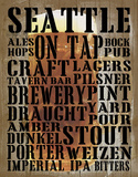 Seattle on Tap Giclee Print by  Graffi*tee Studios