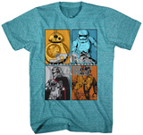 Youth: Star Wars The Force Awakens- Character Match Up T-Shirts