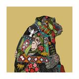 Chimpanzee Love Biscuit Poster autor Sharon Turner