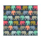 Baby Elephants and Flamingos (Variant 1) Kunst af Sharon Turner