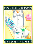 On the Town Poster by Brian James