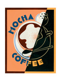 Mocha Coffee Prints by Brian James