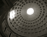 Architechtural Oculus of Pantheon Giclee Print by  Graffi*tee Studios