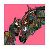 Horse Love Pink Prints by Sharon Turner