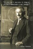 Graffi*tee Studios - Albert Einstein Quote Poster Plakát
