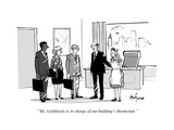 """Ms. Goldilocks is in charge of our building's thermostat."" - Cartoon Premium Giclee Print by Kaamran Hafeez"