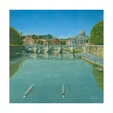 Rowing on the Tiber Rome Prints by Richard Harpum
