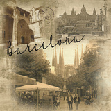 Barcelona Vintage Giclée-Druck von  Graffi*tee Studios