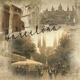 Barcelona Vintage Giclee Print by  Graffi*tee Studios