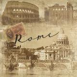 Rome Vintage Giclee Print by  Graffi*tee Studios