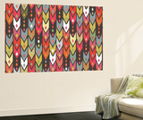 Beach Knit Ikat Arrow Wall Mural by Sharon Turner