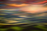 Rolling Hills at Sunset Copy Photographic Print by Ursula Abresch