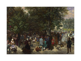 Afternoon in the Tuileries Gardens Giclee Print by Adolph Friedrich Erdmann von Menzel