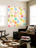 Indian Summer Flowers Wall Mural by Sharon Turner