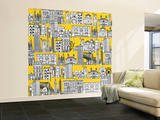 New York Yellow Wall Mural – Large by Sharon Turner