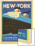 Streamliner NY Wood Print by Brian James