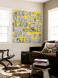 New York Yellow Wall Mural by Sharon Turner