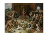 Allegory on the Abdication of Emperor Charles V in Brussels, C.1630-40 Giclee Print by Frans Francken the Younger
