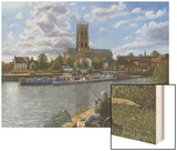 Fishing with Oscar - Doncaster Minster Prints by Richard Harpum