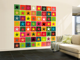 Christmas Boxed Stars Wall Mural – Large by Sharon Turner