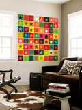 Christmas Boxed Stars Wall Mural by Sharon Turner