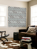 Cool Boardwalk Ikat Wall Mural by Sharon Turner