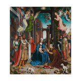 Adoration of the Magi, 1510-15 Giclée-Druck von Jan Gossaert