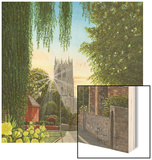 Summer Morning St Mary's Church Tickhill Yorkshire Wood Print by Richard Harpum