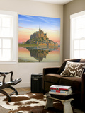 Mont Saint Michel Morn Wall Mural by Richard Harpum