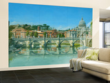 Il Fiume Tevere Roma Wall Mural – Large by Richard Harpum